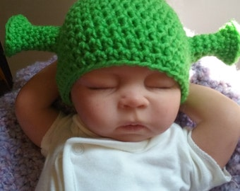 Baby Shrek Inspired, Ogre Hat, Boy or Girl, Baby Halloween
