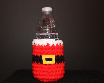 Santa drink holder - Super cute and festive. Makes a great Christmas or grab bag gift!