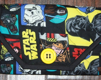 Comic Strip Star Wars Quilted Notebook Cover Clutch