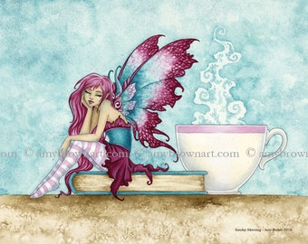 5x7 Sunday Morning fairy PRINT by Amy Brown