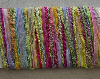 Hand dyed yarns, Citrus - for papercrafting and scrapbooking