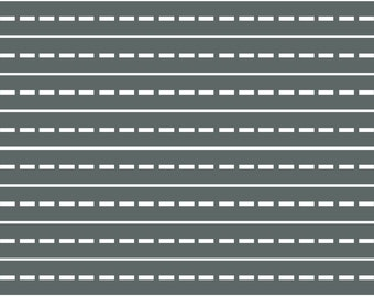 Extra Straight Road Fabric Wall Decals, Peel and Stick Eco-Friendly Removable and Reusable Wall Stickers