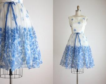 1950s blue teacup dress