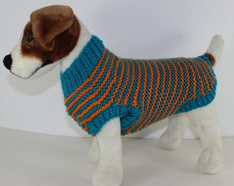 madmonkeyknits - Chunky Stripe Dog Coat knitting pattern pdf download - Instant Digital File pdf knitting pattern