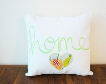 SALE!! Floral 'Home' Pillow Cover (14 inch) (original price: 35.00)