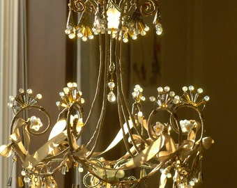 A Beribboned Sunshower Chandelier