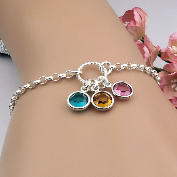 Birthstone Bracelet Mother's Bracelet Birthstone