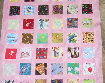 Eye Spy --  quilt top   **new**  (32 x 38)