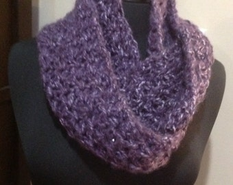 Purple Infinity Scarf, circle scarf, winter Scarfie Cowl