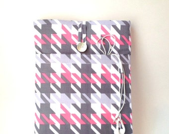 macbook air case, macbook pro case, laptop sleeve, MacBook Air Sleeve, Laptop Case, 13 inch macbook air, macbook air 13 cover, Houndstooth