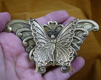 little Fairy Pixie with bent wings Butterfly I love butterflies lover fairies repro Victorian  brass brooch pin pendant  B-Fair-6