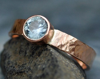 Montana Sapphire in Recycled 18k White, Rose, or Yellow Gold Ring- Custom Made