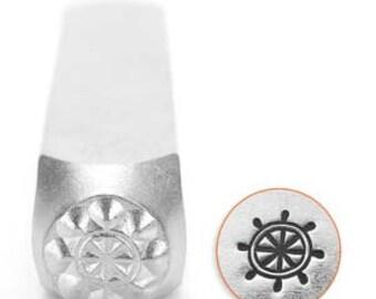 Metal Design Stamp By Impressart 6mm Ship Wheel