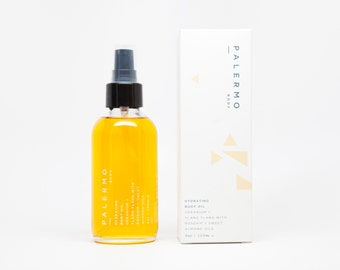 Hydrating Body Oil // Geranium + Ylang Ylang with Rosehip + Sweet Almond Oils