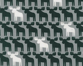 Robert Kaufman Fabric Woodland Pals 2 Moose Gray Ann Kelle, Choose your cut