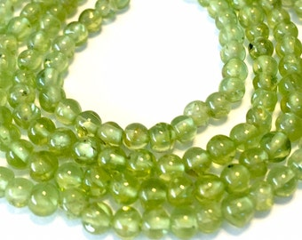 Peridot WHOLE STRAND teeny tiny round beads 14 inch strand