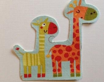 Giraffe Fabric Iron On Applique