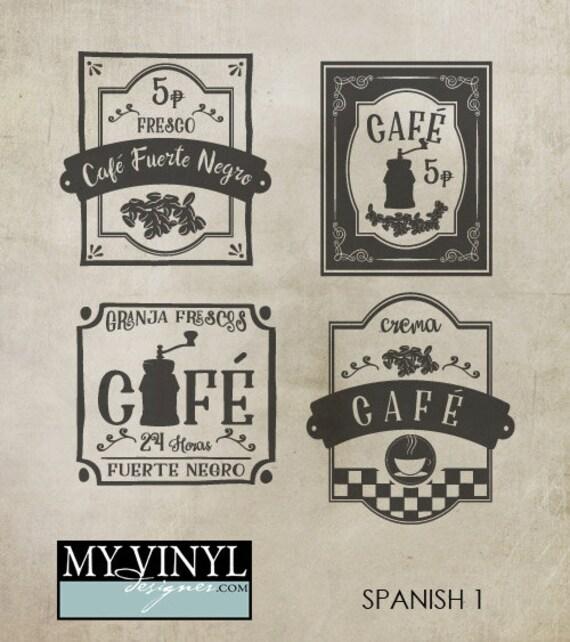 Kitchen Signs In Spanish: Spanish Cafe SVG Files Kitchen Decor Cuttable SVG Files Svg