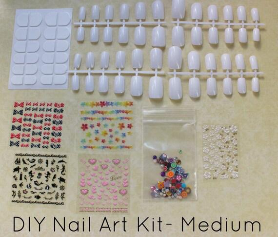 DIY Nail Art Kit- Nail Art, Fake False Press On Nails