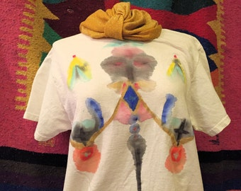 The Themis PSYCHEDELIC BOOB shirt hand painted size Medium