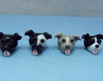 Four Dog Destash - Lampwork Dog Beads SRA