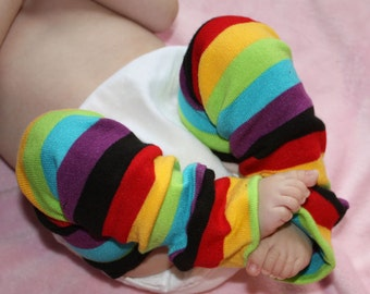 Newborn Rainbow Baby Leg Warmers