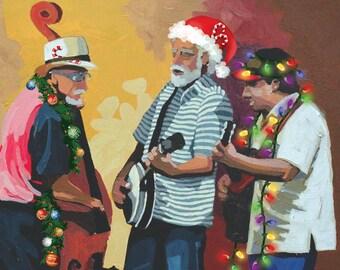Set of 10 Bluegrass Christmas Cards