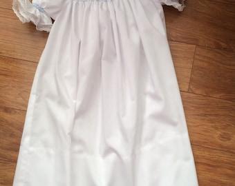 Toddler/Girl's Hand Smocked Short Sleeve Bishop Dress - Sz 3t
