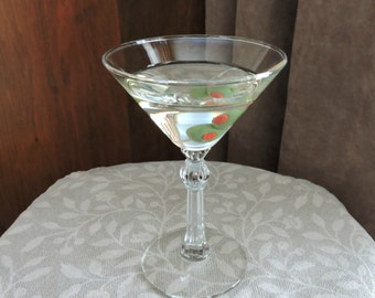 """Glass of Fake Martini With Two Olives 7"""" Faux Food Staging Photo Prop"""