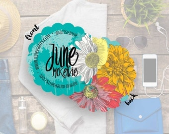 Business Cards, Modern Business Cards, Chic Business Cards, Round Business Cards, Contact Card// June S-S23 UU1