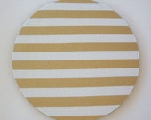 Mouse Pad mousepad / Mat - round or rectangle - Gold Stripes - Computer Accessories Geekery Custom Desk Coworker Gifts Office Gifts