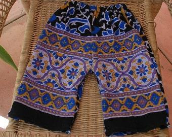 Downward Dog Yoga Hippie Kids pants -Size 1 yr.-Purple blue Sunflowers -Boys or Girls- Read measurements