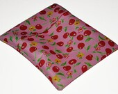 Pink Cherries PUL Pad Wrapper/ Mini Travel Wet Bag