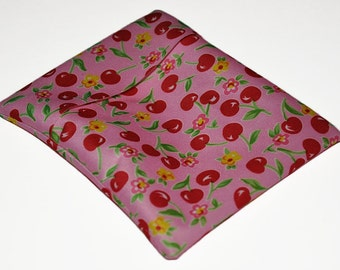 Pink Cherries PUL Pad Wrapper/ Mini Travel Wet Bag