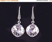 Bridesmaid Jewelry Set of 6 Square Crystal Wedding Earrings