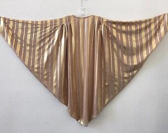 Gold Stripe Printed Disco Chiffon Shrug