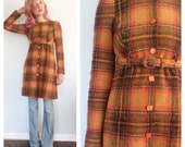 Vintage Betsey Johnson Sunset Plaid Coat