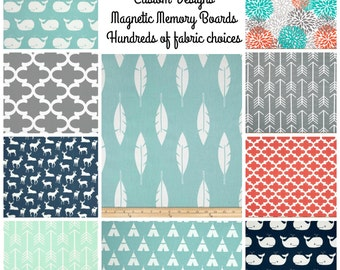 Custom Magnetic Board, Fabric Magnet Board, Family Planner, Playroom Organizer, Choose Your Fabric, Wall Magnet Board - 11 x 16