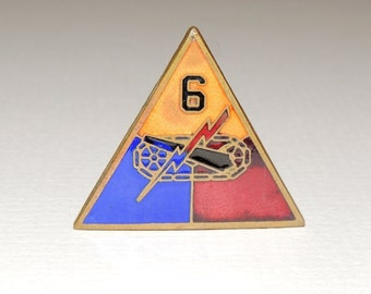 WW2 6th Armored Division Enamel Pin