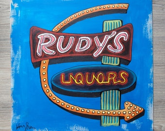 Rudy's Neon Sign Painting