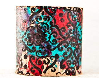 Christmas Boho Jewelry Cuff Leather 2017 Bracelet Wristband - Gift For Her - Etsy Finds New Years Gift