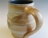 Salt Glazed Honey Dragonfly & Stripes Mug
