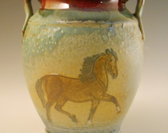 Vase Morgan Horses & Trees