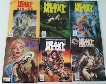 Vintage Issue of Heavy Metal Magazine 80s 90s Fantasy Erotica Illustrated Comics Fiction