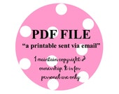 1 Custom Personalized PDF Printable file Invitation or Party Decor banner, toppers, favor tags, banner OR food tents by Palm Beach Polkadots