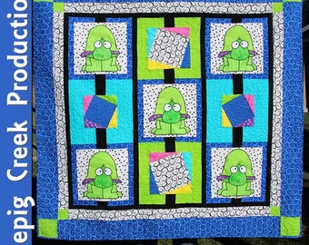 Ted Turtle Crib Quilt - PDF
