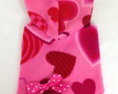 Valentine Heart Hoodie Dog Dress Clothes Size XXXS-Medium by Doogie Couture
