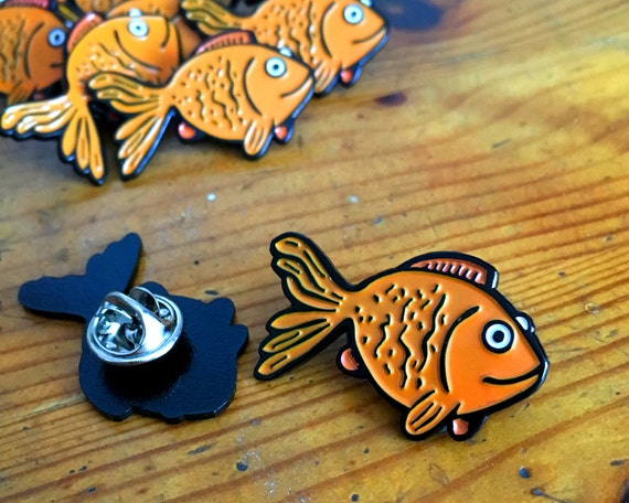 Goldfish Enamel Pin Badge Brooch Lapel Pin Retro Flair