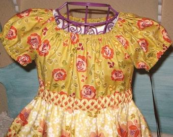 Girls Fall Holiday Dress ready to ship size 4