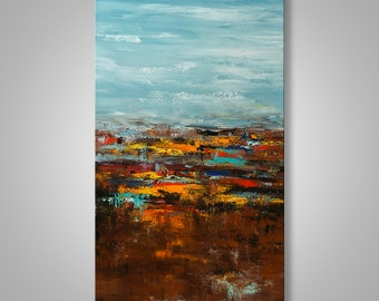 Abstract Painting, Abstract Landscape, Abstract Wall Art, Original Painting, Wall Decor, Wall Art, Home Decor, Catalin Art, Modern Abstract